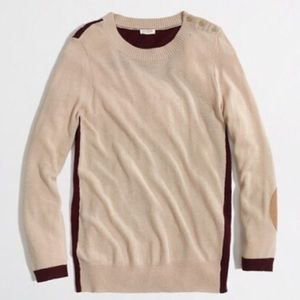 J. Crew Color Block Elbow Patch Sweater size Small